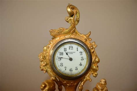 Decorative Table Clocks by Gilded Metal Decorative Table Clock At 1stdibs