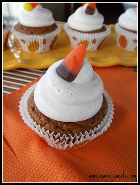 pumpkin cupcakes pumpkin pie cupcakes with cool whip frosting shugary sweets