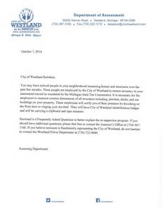 Building Inspector Cover Letter by Residential Re Inspection City Of Westland Mi