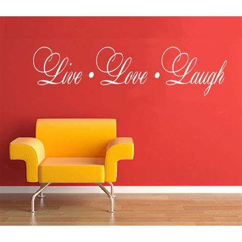 live laugh stickers for wall live laugh wall quotes sticker vinyl lettering by