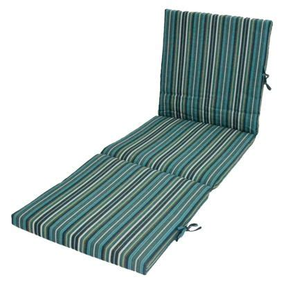 blue pattern chaise threshold outdoor chaise lounge cushion blue stripe