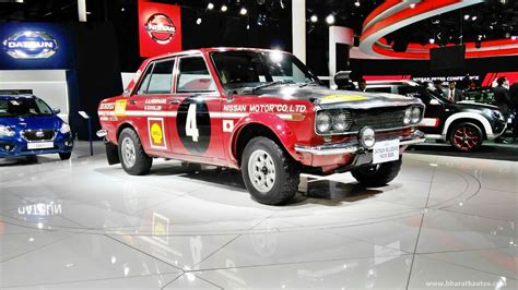 datsun 1600 rally datsun showcases exciting mix of past present future at