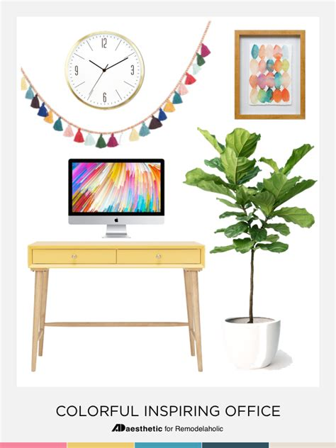 colorful home decor chic and inspiring colorful home office decor the m and