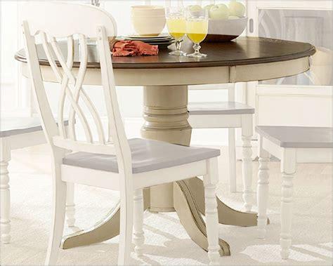 homelegance dining table ohana in white finish