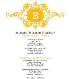 wedding itinerary template wedding itinerary wedding itinerary template bridetodo