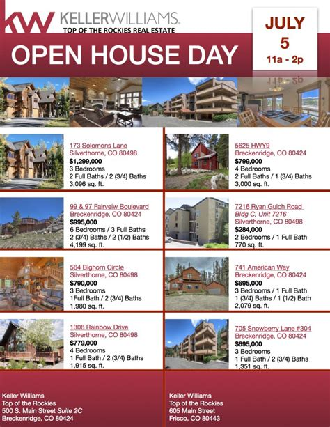 open house day july 5th the skinner team your