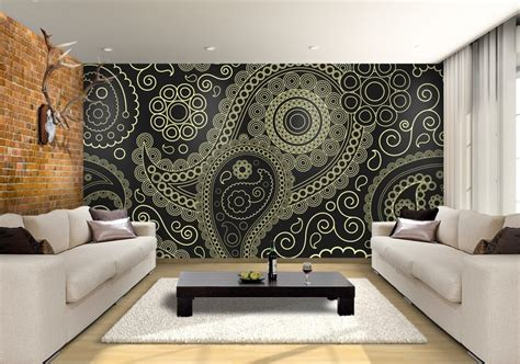 wallpaper for walls noida paisley custom wallpaper mural print by jw shutterstock