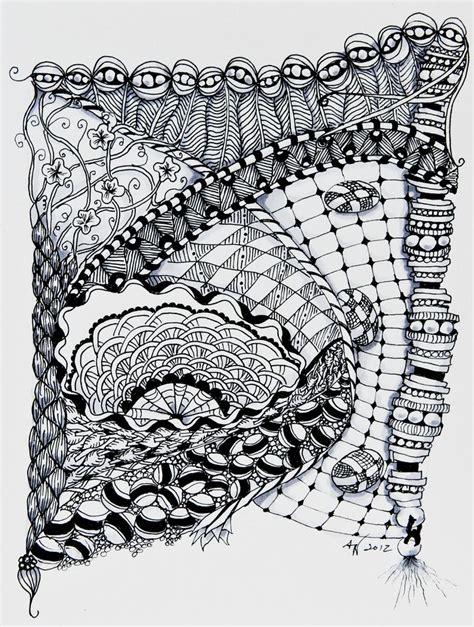 doodle zentangle zentangles doodles