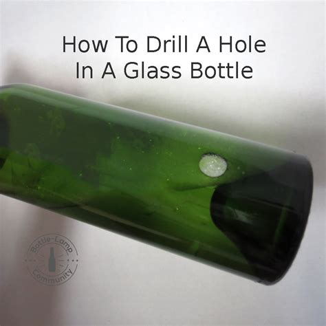 How To Drill A In A Glass Vase by How To Drill A In Glass How To Make A Bottle L