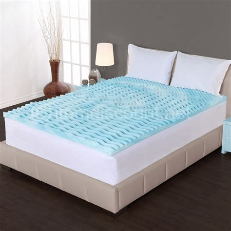 cooling bed 2 quot cooling gel foam mattress topper pad bed cushion 5 zone orthopedic convoluted ebay