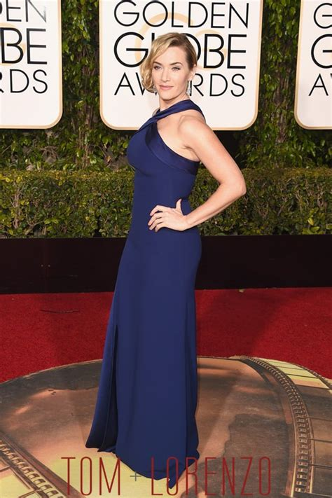 Kate Winslet At The Golden Globes by Golden Globes Kate Winslet In Ralph Tom Lorenzo