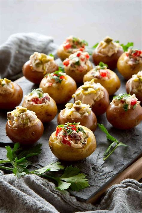 appetizers potato mini goat cheese stuffed potato appetizers