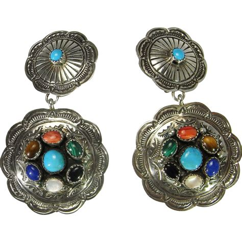 large clip on earrings cabochon gemstone earrings boho