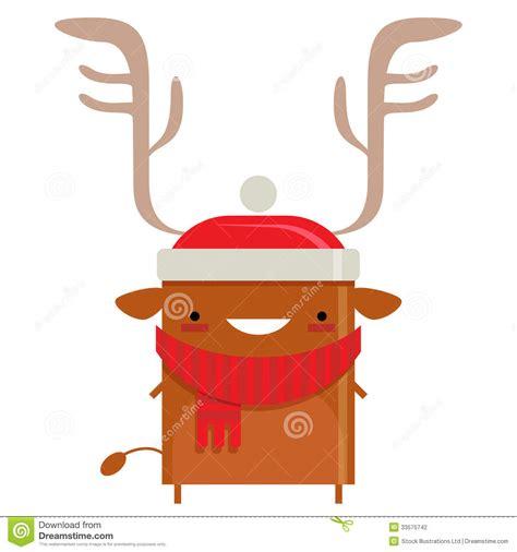 imagenes del reno de santa claus personaje de dibujos animados sonriente simple feliz del