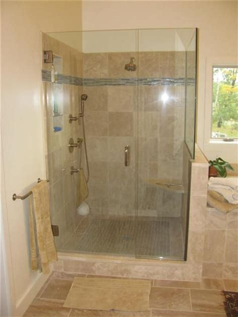 custom walk in showers custom tiled walk in shower for the home pinterest