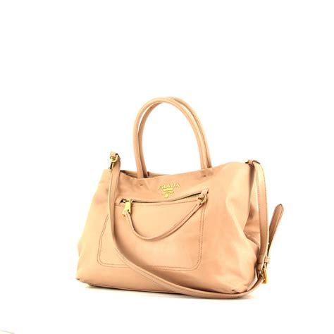 Leather Handbag Beige beige prada handbag prada messenger bag