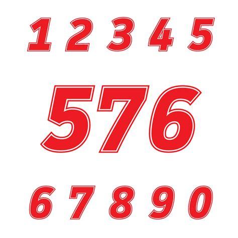 Racing Aufkleber Zahlen by Aufkleber Startnummer Auto Racing Zahlen H 246 He 15 16 17 18