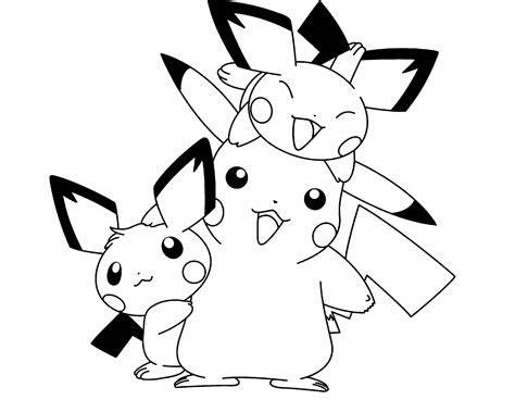 pokemon coloring pages bunnelby pokemon pikachu and two friends are cute coloring page