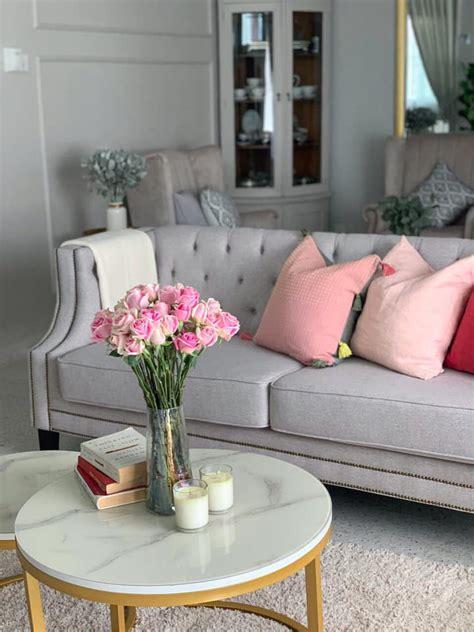 idea deko ruang tamu ruang makan  peminat grey