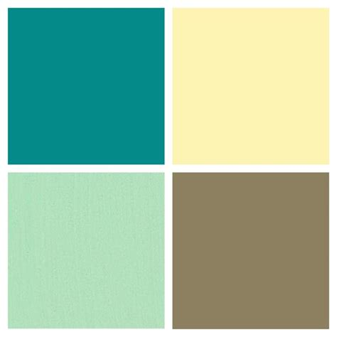 what colors go with seafoam green kitchen color palette butter country yellow mint