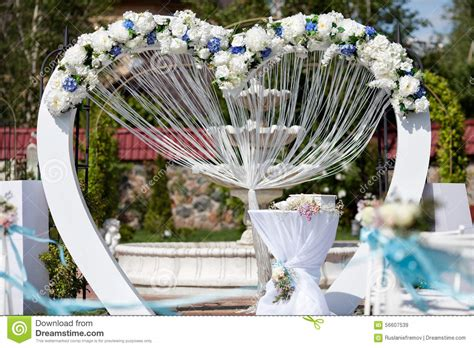 Wedding Arch Decorated With Flowers by Wedding Arch Decorated With Flowers Outdoor Stock Image