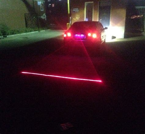 rear ended at a red light anti collision rear end car laser safety fog taillight