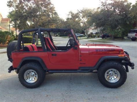 1992 Jeep Wrangler Gas Mileage Purchase Used 1992 Jeep Wrangler S Sport Utility 2 Door 2