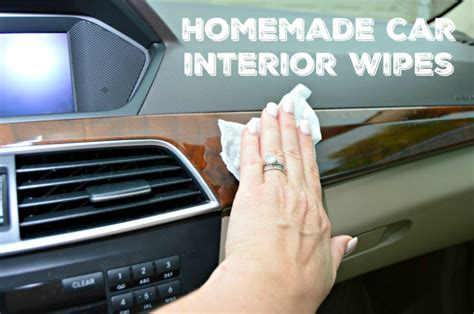 How To Clean Car Interior At Home Make Your Own Car Interior Wipes 4 Real