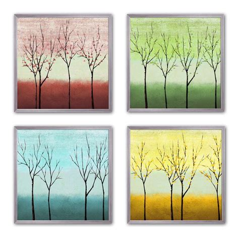 ptm images 10 in x 10 in quot sparse trees quot framed wall