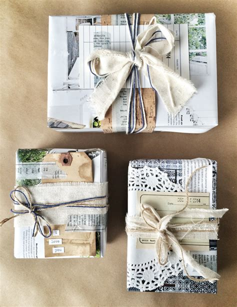 gift wrapping with newspaper ideas khoollect tips waste free gift wrap ideas khoollect