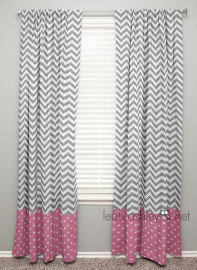 pink and gray chevron curtains curtain panel with banding gray chevron medium pink