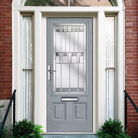 External Virtuoso Harton Bienno Composite Door Shown In Slate Composite External Front Doors