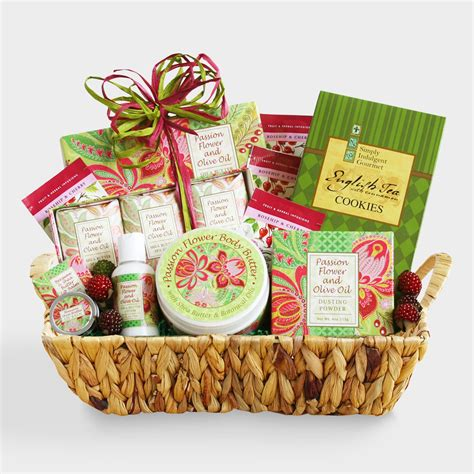 fresh market christmas gifts fresh and festive spa gift basket world market