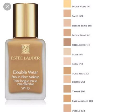 estee lauder foundation colors est 233 e lauder wear stay in place spf10 liquid
