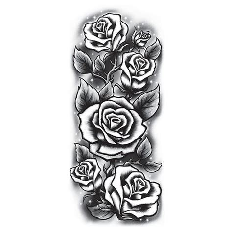 Rosen In Der Nacht I Love Fake Tattoos Black And White Sleeve Tattoos Drawings