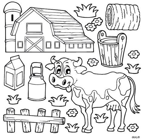 Coloriage Une Vache 224 La Ferme Dory Fr Coloriages Coloriages Coloriage Vache L