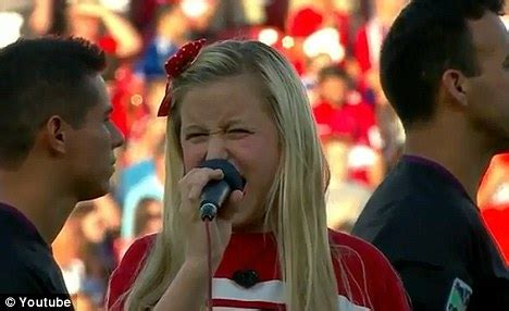 taylor swift star spangled banner age 11 harper gruzins unfortunate 11 year old girl ridiculed for