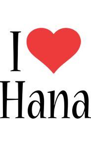 hana logo name logo generator i love love heart