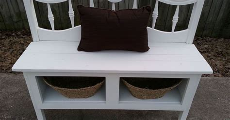 diy headboard bench headboard and a kitchen cabinet make a great bench with
