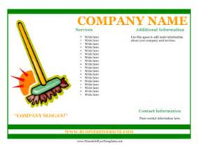 Business Flyer Templates Free Printable Sample Flyer For Cleaning Business