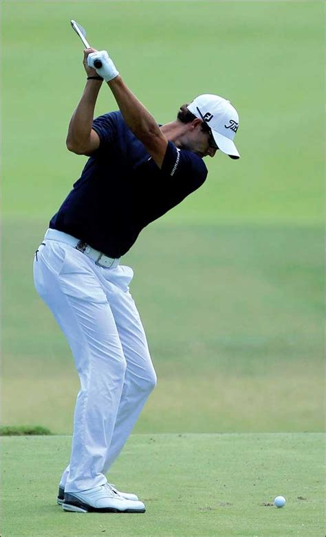golf swing adam scott swing analysis of masters chion adam scott down the line