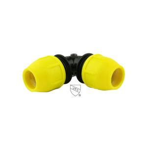 home flex underground yellow poly gas pipe 90 degree 3 4