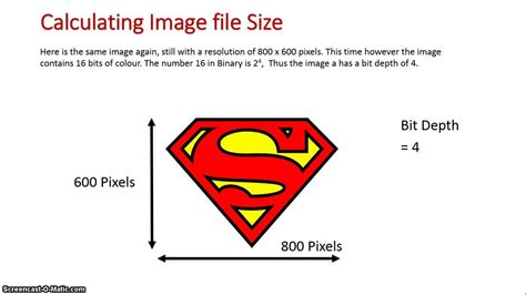 size image calculations image file size