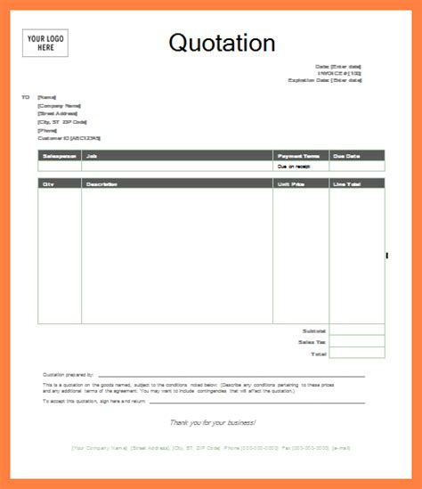 terms and conditions of quotations template quote template word quote template word quotation template
