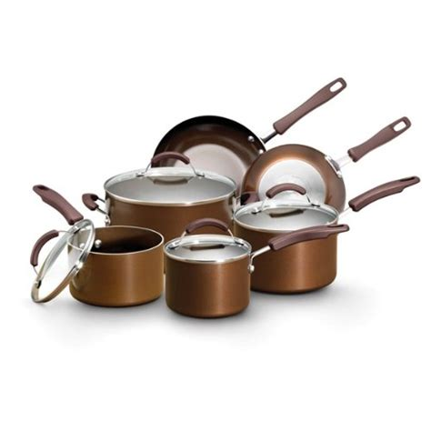 amazon pan gt cheap earth pan by farberware 10 piece nonstick sandflow cookware set bronze shopping