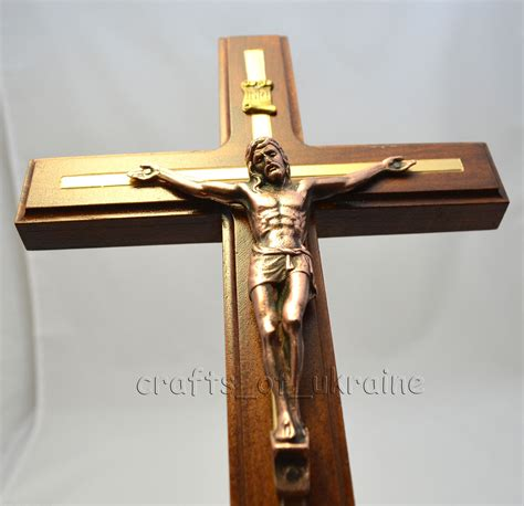 large catholic carved wall cross crucifix jesus christ