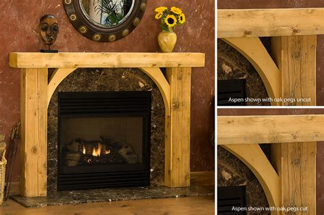 rustic wood fireplace mantel aspen timber wood fireplace mantel rustic indoor