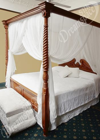 silk mosquito net bed canopy in king size and box shape