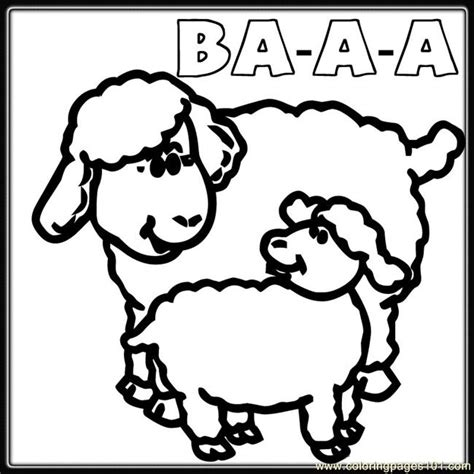coloring pages mother baby sheep coloring animals
