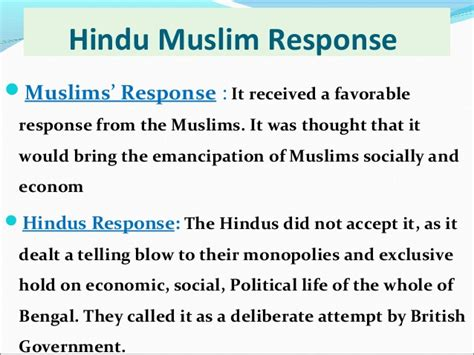 british partition bengal into hindu and muslim sections partitionofbengal